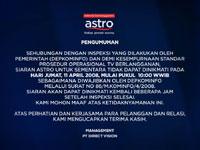Pemberitahuan Astro tb